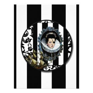 La reina del pirata fija la vela original alterad