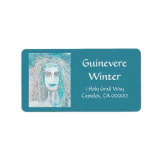 La reina del solsticio de invierno etiquetas de dirección