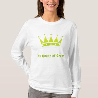 La reina del verde playera