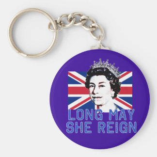 La reina Elizabeth II puede de largo ella reina Llavero Redondo Tipo Pin