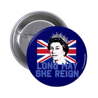 La reina Elizabeth II puede de largo ella reina Pin Redondo 5 Cm