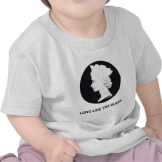 La reina Elizabeth II, vive de largo la reina Camisetas