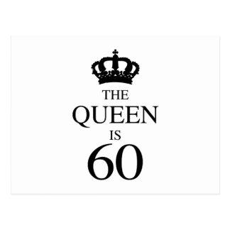 La reina es 60 postal
