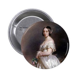 La reina joven Victoria Pin Redondo De 2 Pulgadas