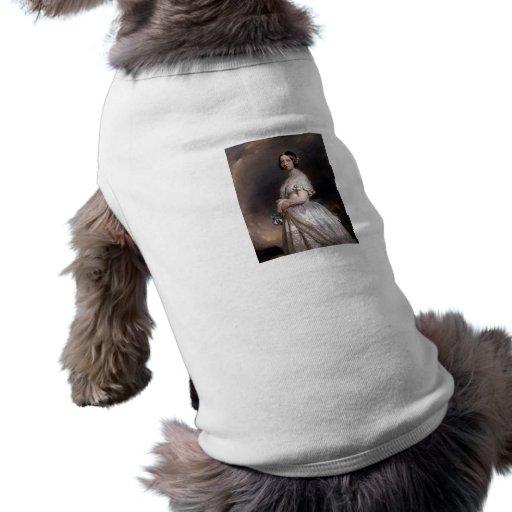 La reina joven Victoria Playera Sin Mangas Para Perro