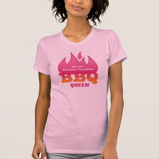 La REINA más grande del Bbq de la abuela del mundo Camisetas