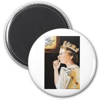 """La reina """"nariz"""" ella escogió un año del diamante imán redondo 5 cm"""
