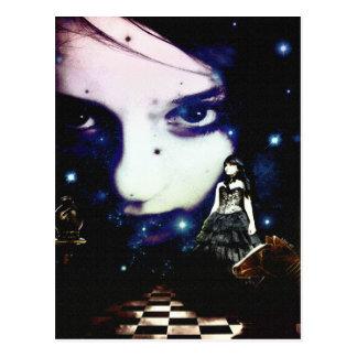 ¡La reina negra del ajedrez! Postales