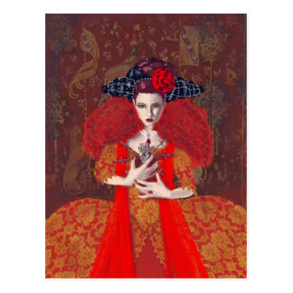 La reina roja tarjetas postales