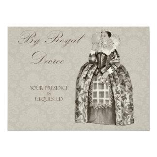 La reina Victoria real invita Invitaciones Personalizada
