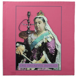 La reina y la cachimba servilleta de papel