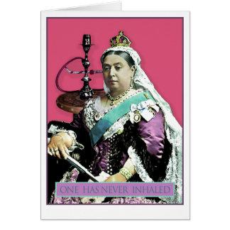 La reina y la cachimba tarjeta de felicitación