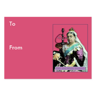La reina y la cachimba tarjetas de visita grandes