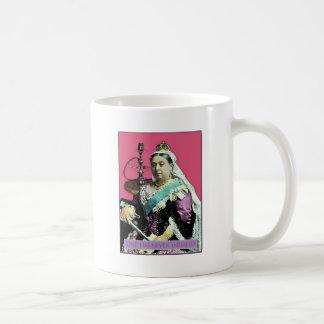 La reina y la cachimba taza básica blanca
