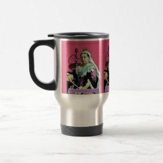 La reina y la cachimba taza de viaje de acero inoxidable