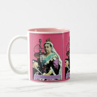 La reina y la cachimba taza de café de dos colores