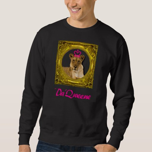 La reina y la camiseta de Da'Queene en negro Jersey