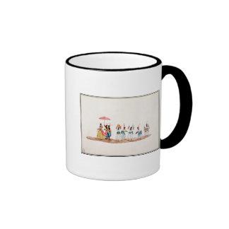 La reina y su habitación taza de café
