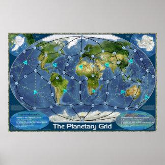 La rejilla planetaria posters
