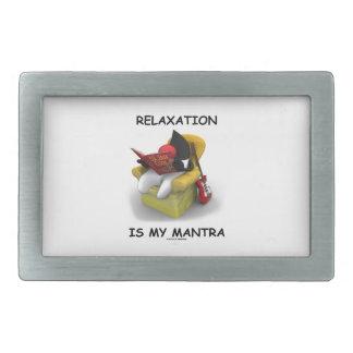 La relajación es mi mantra (duque Code de Java) Hebilla Cinturón Rectangular