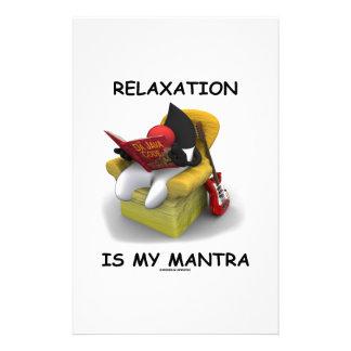 La relajación es mi mantra (duque Code de Java) Papelería De Diseño