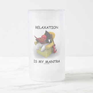 La relajación es mi mantra (duque Code de Java) Taza De Cristal