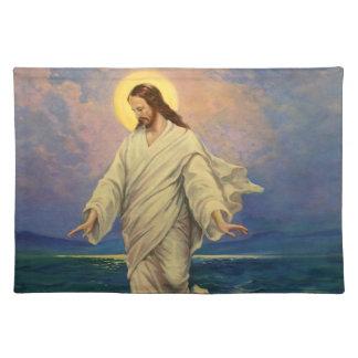 La religión del vintage, Jesucristo está caminando Manteles Individuales