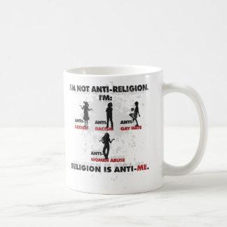 La religión es Anti-Me. Taza