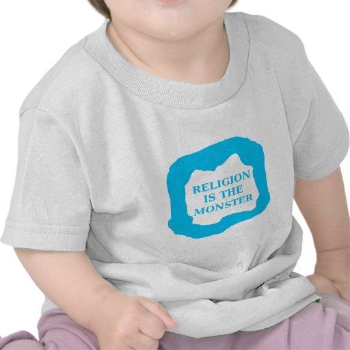 La religión es el monstruo 2 .PNG Camisetas