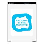 La religión es el monstruo 2 .PNG iPad Skin
