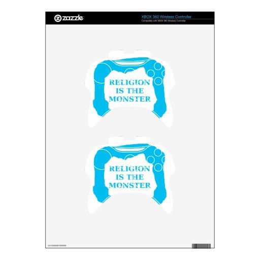 La religión es el monstruo 2 .PNG Mando Xbox 360 Calcomanía