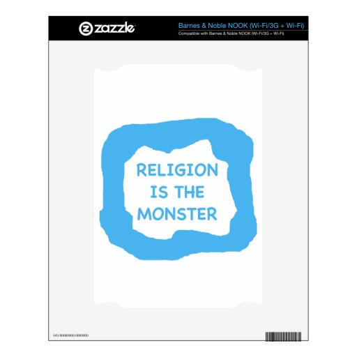 La religión es el monstruo .png calcomanía para el NOOK