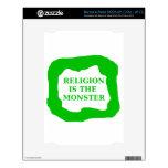 La religión es el monstruo, .png verde NOOK calcomanía