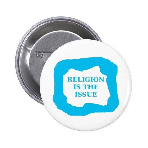 La religión es el problema, .png azul pins