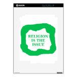 La religión es el problema, .png verde calcomanías para iPad 2