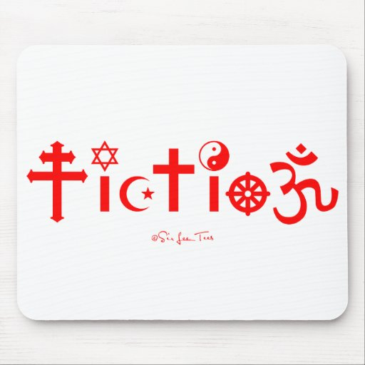 La religión es ficción tapete de ratones