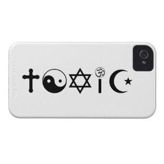 La religión es librepensador tóxico carcasa para iPhone 4
