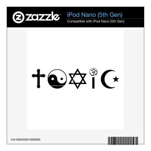 La religión es librepensador tóxico iPod nano skin