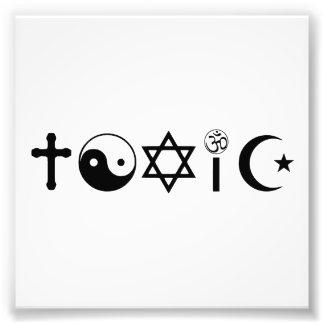 La religión es librepensador tóxico arte fotográfico