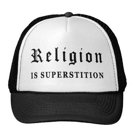 La religión es superstición gorros