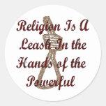 La religión es un correo etiquetas redondas