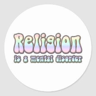 La religión es un trastorno mental pegatina redonda
