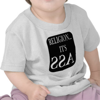la religión está al revés camisetas
