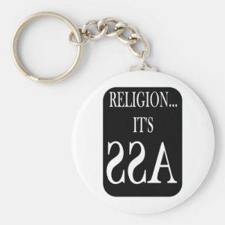 la religión está al revés llavero redondo tipo pin