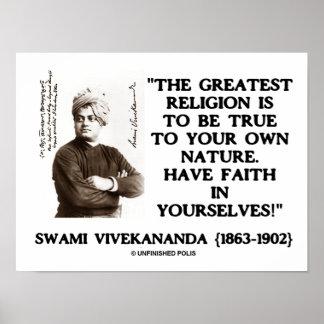 La religión más grande de Vivekananda a ser verdad Impresiones