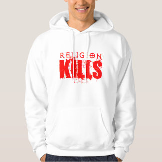 La religión mata a sudadera con capucha