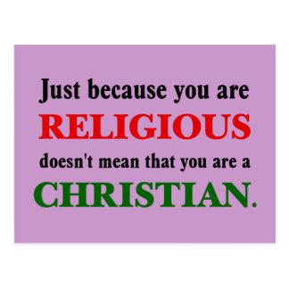 La religión practicante no está practicando postal