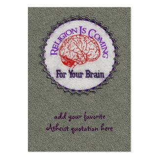 La religión quiere su cerebro tarjetas de visita grandes