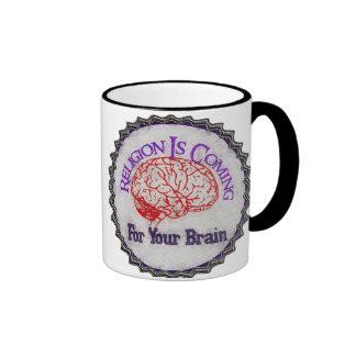 La religión quiere su cerebro taza de dos colores