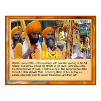La religión sikhs celebra Baisaki Postal